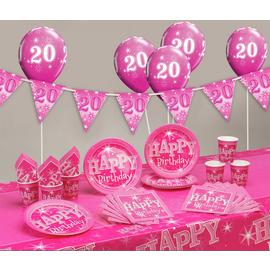 Pink Sparkle 20th Birthday Party Pack