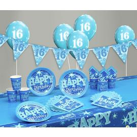Blue Sparkle 16th Birthday Party Pack