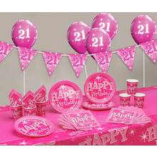 Pink Sparkle 21st Birthday Party Pack