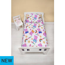 Peppa Pig Cheerful Toddler Bed In A Bag