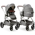 more details on Cupla Duo 2 in 1 Pushchair Rain Cover - Grey