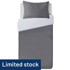 Argos Home Grey Waffle Bedding Set - Single