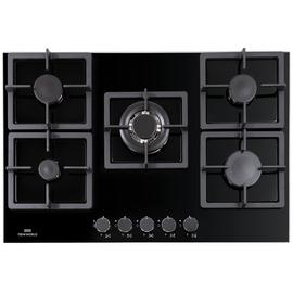 New World NWLEG75 Cast Iron Support Gas Hob - Black Best Price, Cheapest Prices