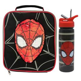 Spiderman Reversible Sequin Bag & Bottle - 600ml