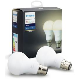 Philips Hue White B22 Bulbs - Twin Pack