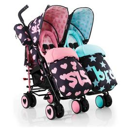 Cosatto Supa Dupa Double Pushchair - Sis and Bro 5