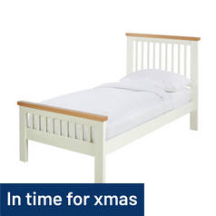 Argos Home Aubrey Single Bed Frame - Two Tone