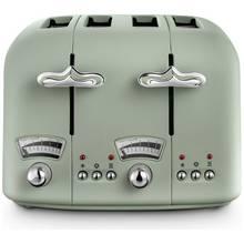 De'Longhi CTO4 Argento Flora 4 Slice Toaster - Green