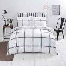 Sainsbury's Home Restoration Check Duvet Cover Set - Single