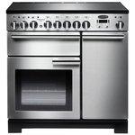 more details on Rangemaster Professional Deluxe 90cm Range Cooker - S/Steel