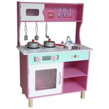 Kiddi Style Kid's Large Modern Wooden Kitchen - Pink
