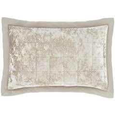 Catherine Lansfield Crushed Velvet Pillow Cover Pair - Nat