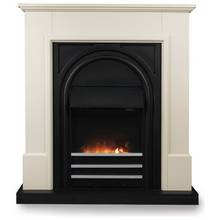 buy adam innsbruck 2kw electric stove suite oak black. Black Bedroom Furniture Sets. Home Design Ideas