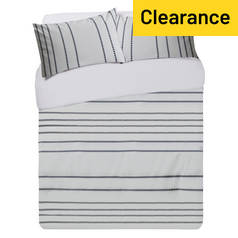Argos Home Hamilton Stripe Bedding Set - Kingsize