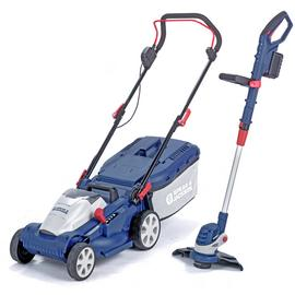 Spear & Jackson 34cm Cordless Lawnmower and Trimmer - 2x 24V