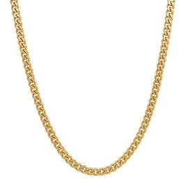 Revere 9ct Gold Plated Sterling Silver Curb 20inch Chain