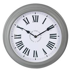 Argos Home Stationary Wall Clock - Grey
