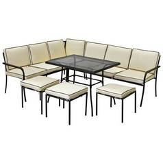 Argos Home Ronda 8 Seater Metal Corner Sofa Set