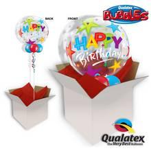 Birthday Brilliant Stars 22 Inch Bubble Balloon In A Box
