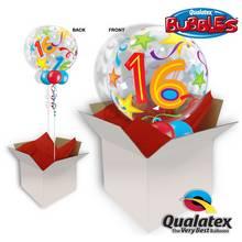 16 Brilliant Stars 22 Inch Bubble Balloon In A Box