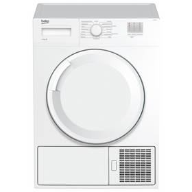 Beko DTGC8000W B Rated 8kg Sensor Condenser Tumble Dryer in White 2 Temps Best Price and Cheapest