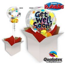 Get Well Soon Sunny 22 Inch Bubble Balloon In A Box