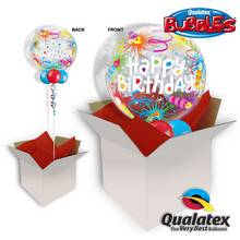 Birthday Lit 22 Inch Candles Bubble Ballon In A Box