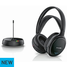 Philips SHC5200 Hi-Fi Wireless On-Ear Headphones - Black