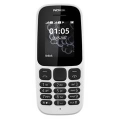 SIM Free Nokia 105 2017 Mobile Phone - White
