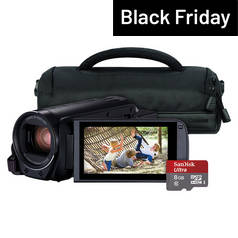 Canon Legria HF R806 Full HD Camcorder Bundle - Black