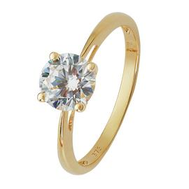 Revere 9ct Gold 1ct Look Cubic Zirconia Solitaire Ring