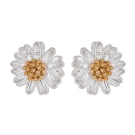 Amelia Grace Silver Plated Wildflower Stud Earrings