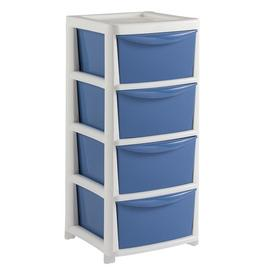 Argos Home 4 Drawer Wide Tower - Blue