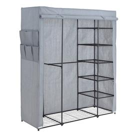Argos Home Covered Triple Wardrobe with Storage - Grey