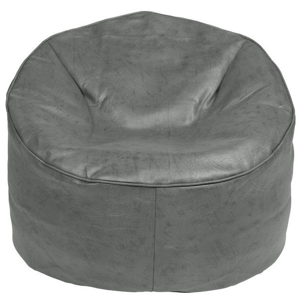 Amazing Buy Argos Home Faux Leather Bean Bag Chair Grey Bean Bags Argos Gmtry Best Dining Table And Chair Ideas Images Gmtryco