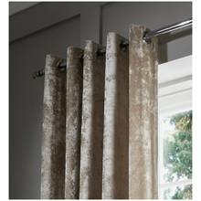 Catherine Lansfield Crushed Velvet Curtain 229x229cm Natural