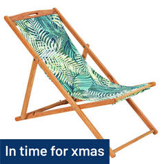 Argos Home Deck Chair - Palm