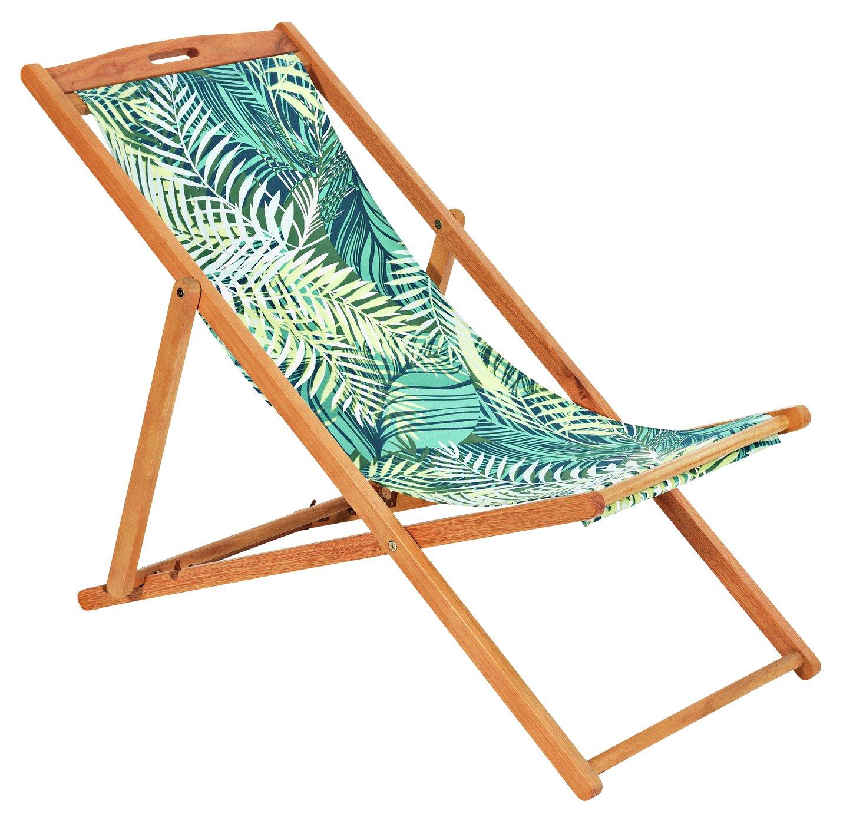 Argos Home Deck Chair   Palm