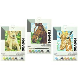 Reeves Labrador, Horse & Giraffe Paint By Numbers - 3 Pack