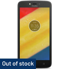 SIM Free Motorola Moto C Plus 16GB Mobile Phone - Black