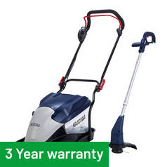 Spear & Jackson 35cm Corded Hover Mower 1700W + Trimmer 320W