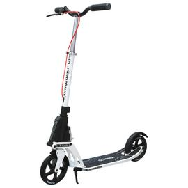 Globber One K Active with Brake Adult Scooter - White