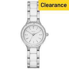 DKNY Ladies' Chambers NY2494 Ceramic Stainless Steel Watch