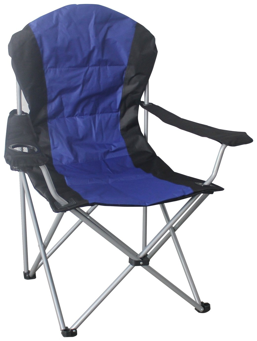 Fabulous portable padded high back chair with table camping decathlon for Table quechua