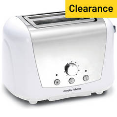 Morphy Richards 44265 Accents 2 Slice Dome Toaster - White