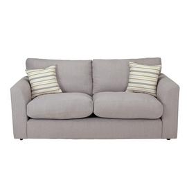 Argos Home Cora 3 Seater Fabric Sofa - Light Grey