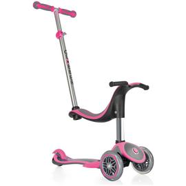 Globber 4-in-1 Plus 3 Wheel Scooter - Neon Pink