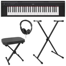 Yamaha NP12 Electronic Keyboard Bundle - Black