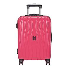 IT Luggage Hard 8 Wheel Suitcase - Metallic