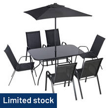 HOME Sicily 6 Seater Metal Patio Set